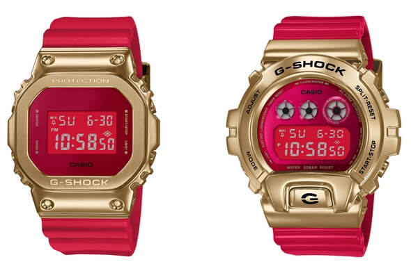 G-Shock GM-5600CX-4DR and GM-6900CX-4DR for Chinese New Year 2021 Year of the Ox Zodiac Edition