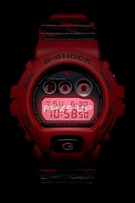 G-Shock DW6900FAZE20-4CR FaZe Clan FAZE UP EL Backlight