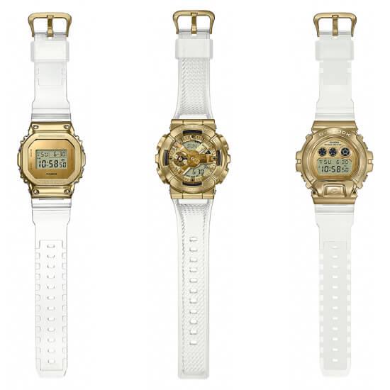 G-Shock Skeleton Gold Metal Covered Series: GM-5600SG-9, GM-6900SG-9, GM-110SG-9A