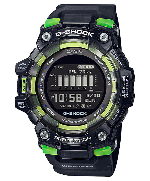 G-Shock GBD-100SM-1 Black and Green