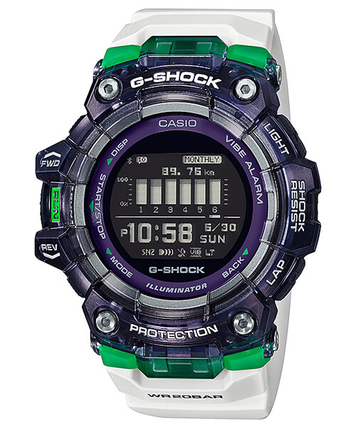 G-Shock GBD-100SM-1A7 Green and White