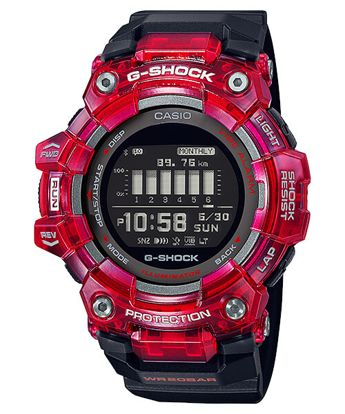 G-Shock GBD-100SM-4A1 Black and Red
