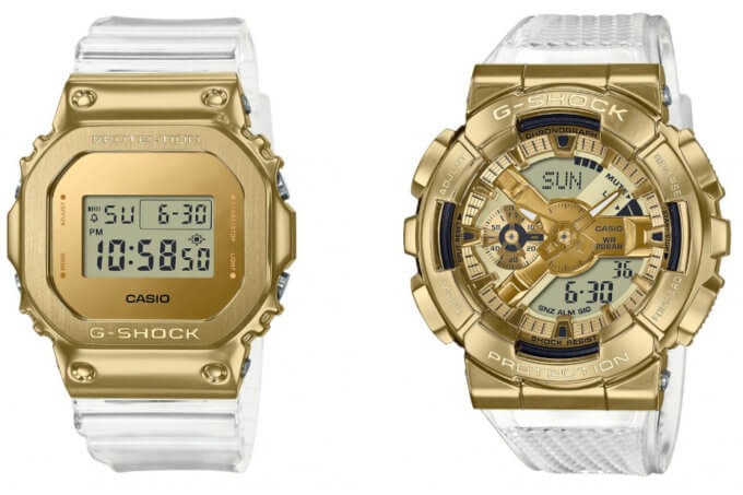 G-Shock Metal Skeleton Gold Series: GM-5600SG-9, GM-6900SG-9, GM-110SG-9A