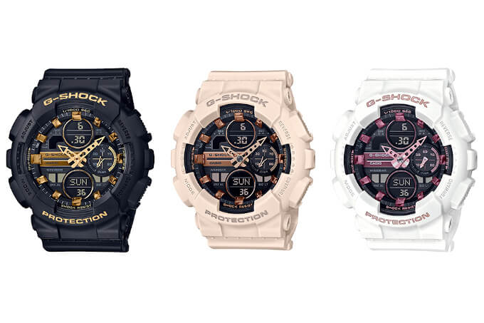 G-SHOCK GMAS-S140M METALLIC MARKERS GMA-S140M-1A GMA-S140M-4A GMA-S140M-7A