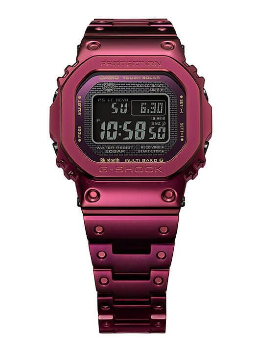 G-SHOCK GMW-B5000RD-4 Red Ion Plated Stainless Steel