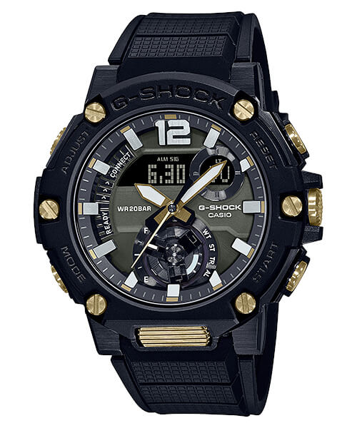G-Shock GST-B300B-1A Black and Gold with Green Dial