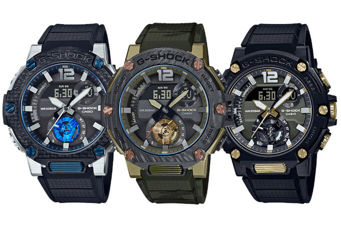 G-STEEL GST-B300XA-1A  & GST-B300XB-1A3 with Sapphire Crystal and Carbon Bezel, Black and Gold GST-B300B-1A (GST-B300B-1AJF. GST-B300XA-1AJF, GST-B300XB-1A3JF)
