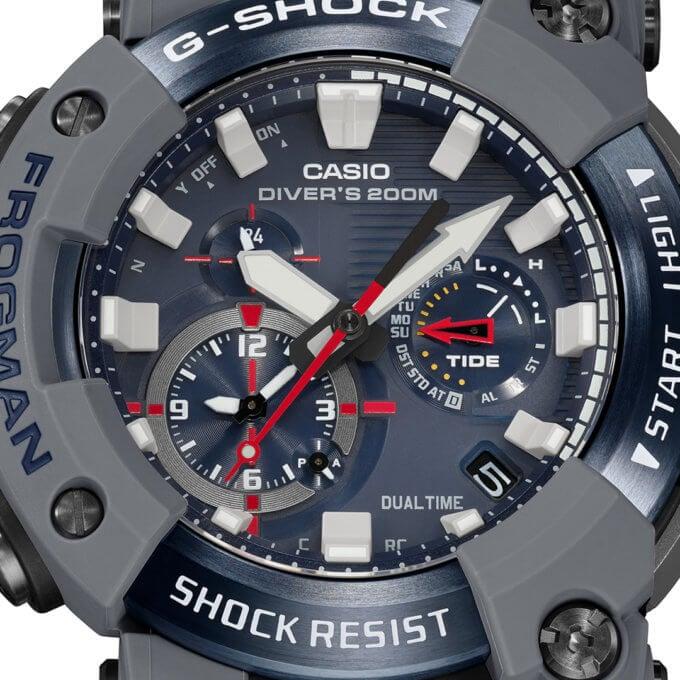 Royal Navy x G-Shock Frogman GWF-A1000RN-8A Dial
