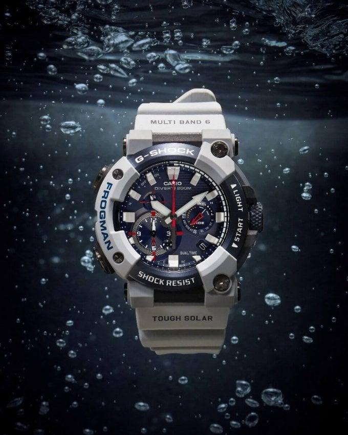 Royal Navy x G-Shock Frogman GWF-A1000RN-8A Underwater