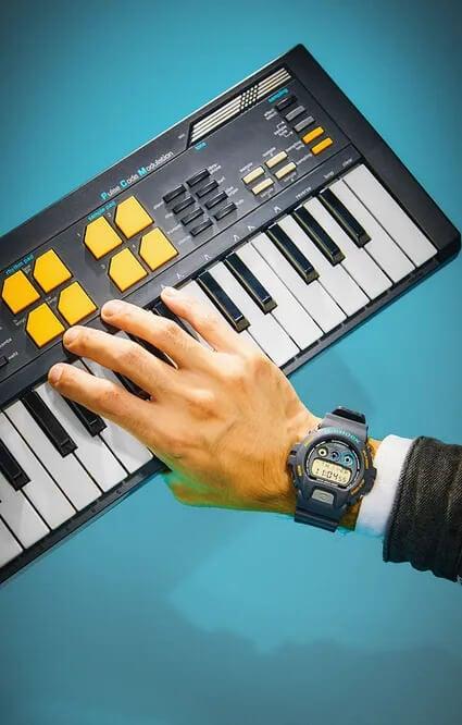 John Mayer x Hodinkee x G-Shock DW6900JM20-8 and Casio SK-5 Sampling Keyboard