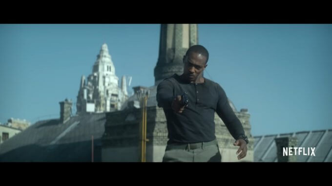 Anthony Mackie wears G-Shock Mudmaster GWG-1000 in Outside the Wire