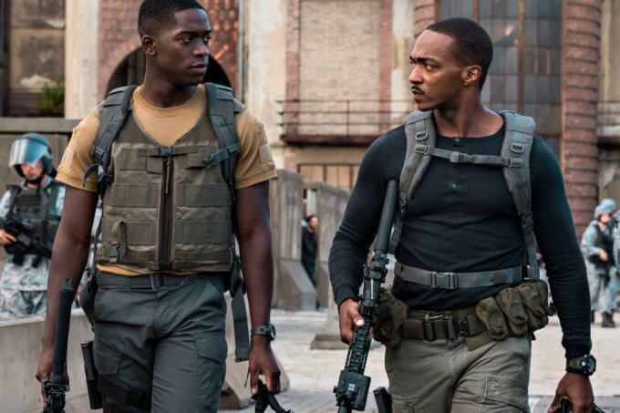 Anthony Mackie wears Casio G-Shock Mudmaster GWG-1000 Watch in Outside the Wire