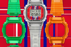 G-SHOCK DWE-5600KS-7 CLEAR, GREEN, ORANGE SKELETON SET
