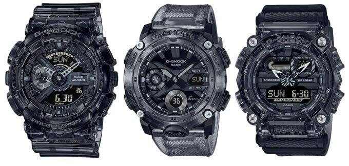 G-Shock SKE Black Skeleton Series GA-110SKE-8A GA-2000SKE-8A GA-900SKE-8A