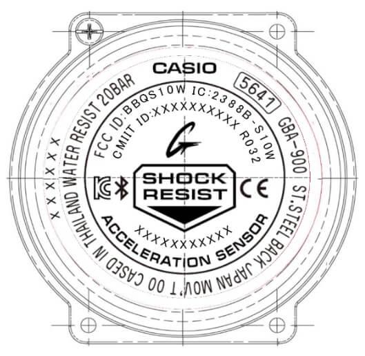 G-Shock G-SQUAD GBA-900 Case Back