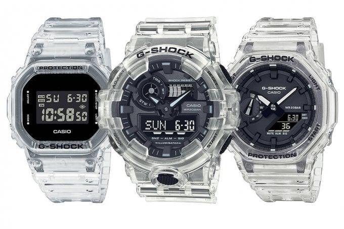 G-Shock SKE Black Skeleton Series DW-5600SKE-7 GA-700SKE-7A GA-2100SKE-7A