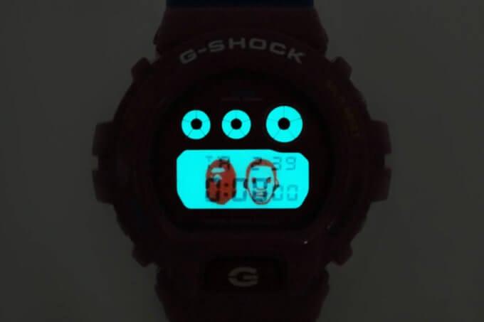 A Bathing Ape (BAPE) x Kid Cudi x G-Shock DW-6900 EL Backlight