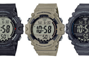 Casio AE-1500WH: Wide Face with10-Year Battery & 100M WR