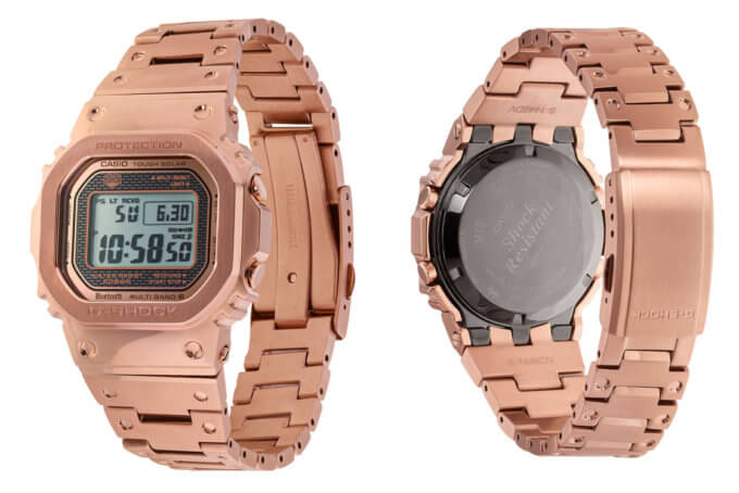 G-Shock GMW-B5000GD-4 Rose Gold IP and Positive STN LCD Display