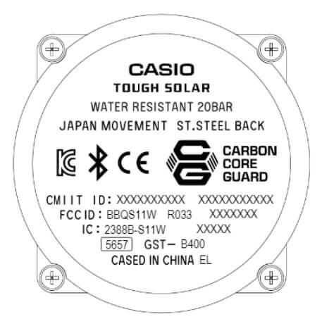 G-Shock G-STEEL GST-B400 Case Back
