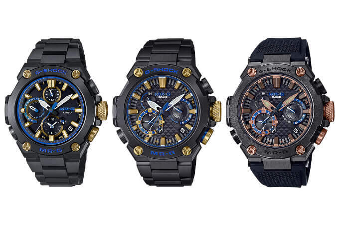 G-Shock MR-G for 2021: MRG-B1000BA-1A, MRG-B2000B-1A, MRG-B2000R-1A