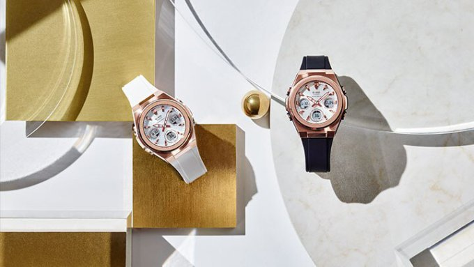 Baby-G MSG-S600 Rose Gold with Black and White