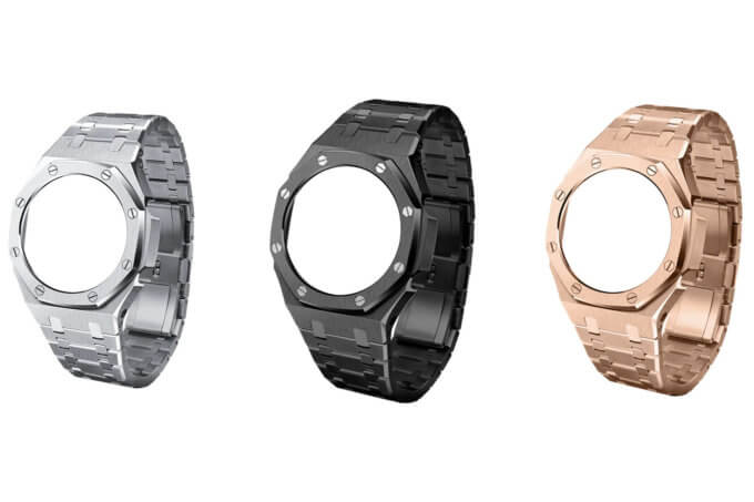 "Aftermarket G-Shock GA-2100 ""CasiOak"" Metal Stainless Steel Mod Kits by Hontao"