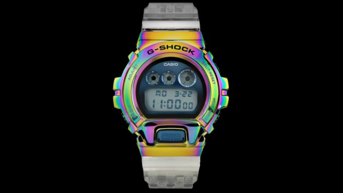 KITH x G-Shock GM-6900 with Rainbow IP Bezel for 2021