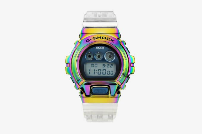 KITH x G-Shock GM-6900 with Rainbow Bezel for 2021 10th Anniversary