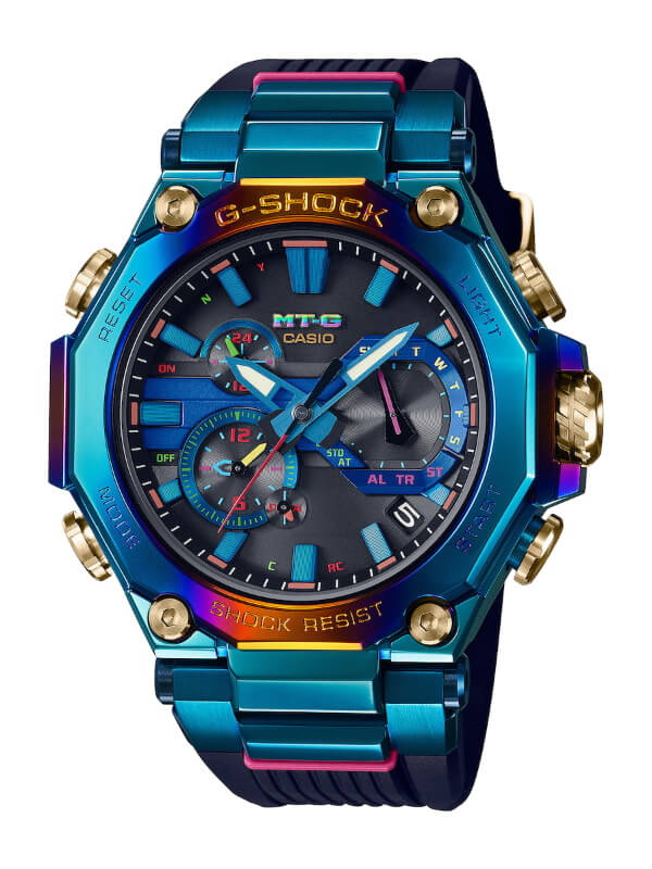G-SHOCK MTG-B2000PH-2A Blue Phoenix with Rainbow IP