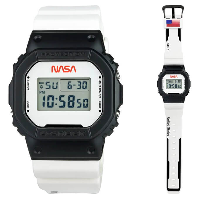 NASA x G-Shock DW5600NASA21-1 for First Space Shuttle Launch 40th Anniversary OV-102 STS-1