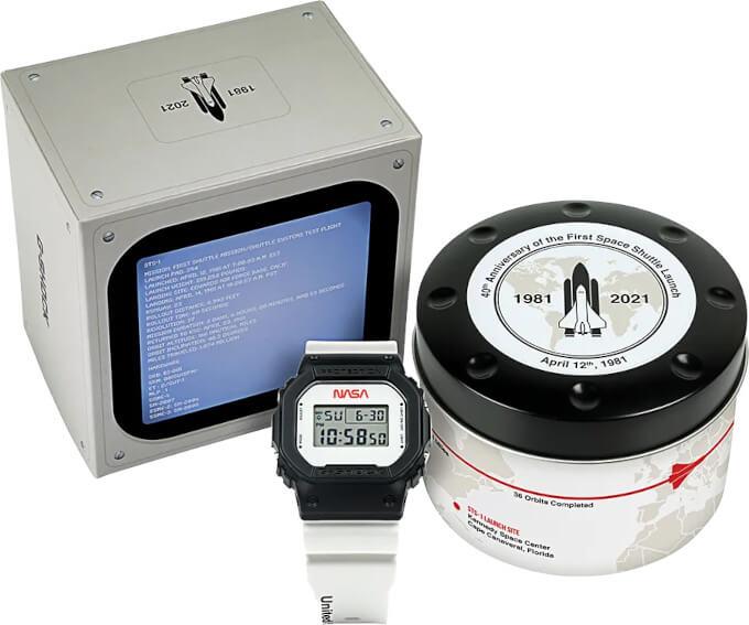 NASA x G-Shock DW5600NASA21-1 Box and Case