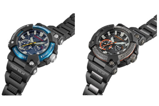 G-Shock Frogman GWF-A1000C-1A & GWF-A1000XC-1A with Composite Band (C, XC) and Carbon Fiber Bezel (XC)