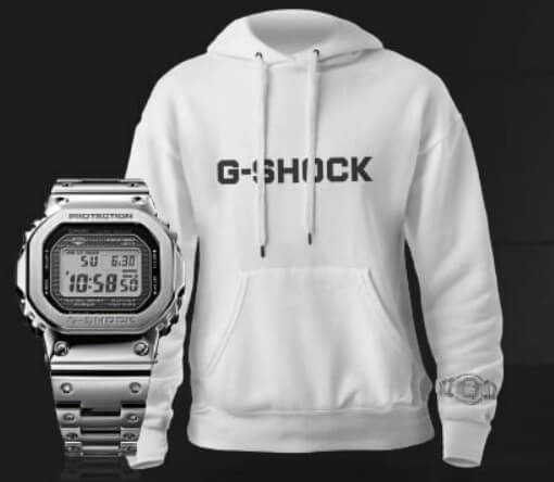 G-Shock GMW-B5000 Hoodie Sweater Giveaway by Casio Spain