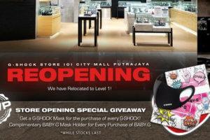 Malaysia: G-Shock Mask Giveaway at IOI City Mall Putrajaya