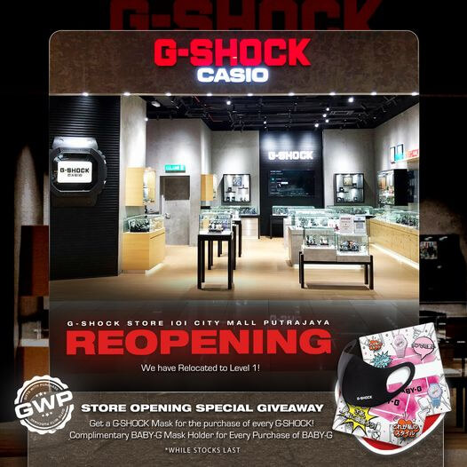 G-Shock Mask Giveaway at IOI City Mall Putrajaya Malaysia