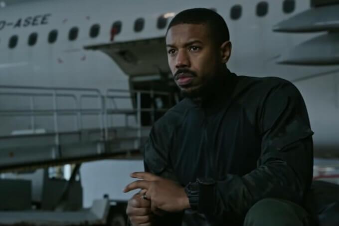 Michael B. Jordan wears G-Shock GW-7900B-1 Wristwatch in Tom Clancy's Without Remorse