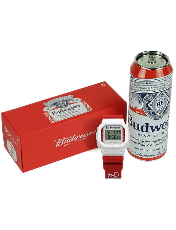 Budweiser x G-Shock DW5600BUD20 Can Case and Box