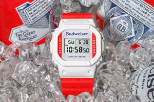 Budweiser x G-Shock DW5600BUD20 The King of Beers Collab