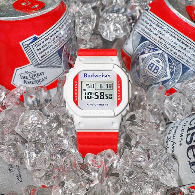 Budweiser x G-Shock DW5600BUD20 Collaboration Watch