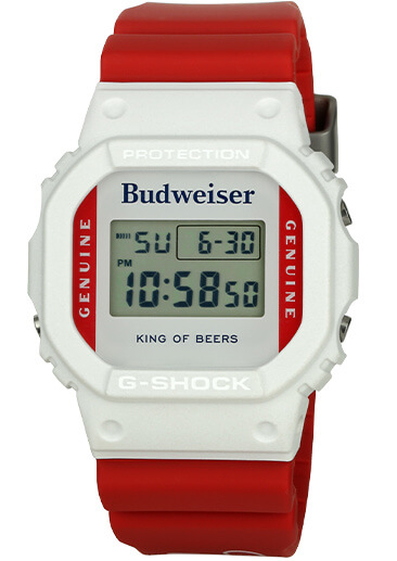 Budweiser x G-Shock DW5600BUD20 is a tribute to The King Of Beers