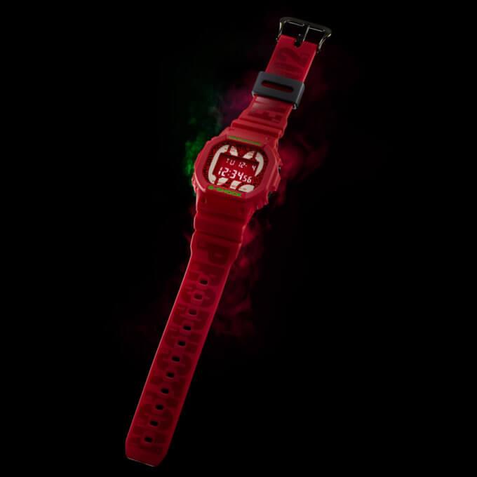 Evangelion  x G-Shock DW-5600 EVA-02 Band