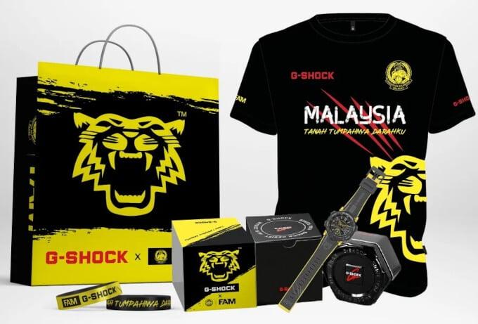 Harimau Malay x G-Shock GA-2000 Collaboration with the Football Association of Malaysia
