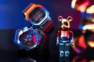 BE@RBRICK x G-Shock GM-110SN-2A & GM-5600SN-1 Limited Shanghai Night Series