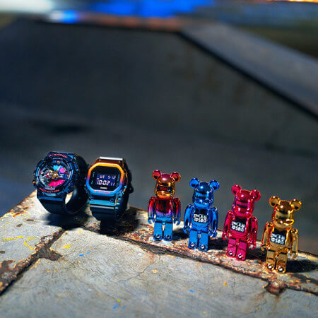 BE@RBRICK x G-Shock GM-110SN-2A & GM-5600SN-1 Joint Doll Figures