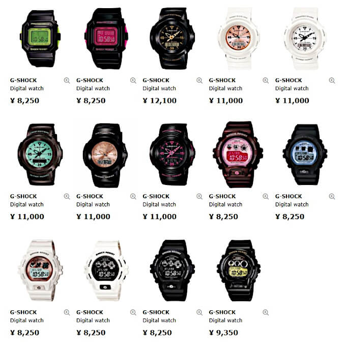 Many G-Shock Mini watches are available in Japan (GMN-500, GMN-550, GMN-691, GMN-692)
