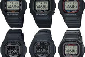 """G-Shock 5000U/5600U/5610U Updated Module """"U"""" Series: GW-5000U-1, GW-M5610U, GW-S5600U, G-5600UE"""