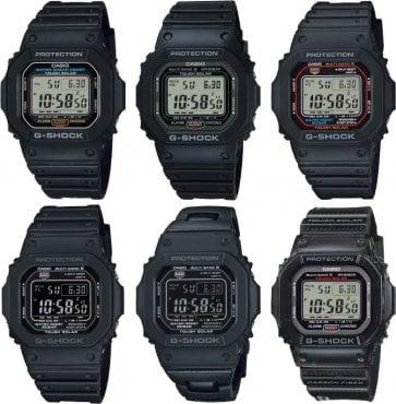 """G-Shock 5000/5600 Module Update """"U"""" Series: GW-5000U-1, GW-M5610U, GW-S5600U, G-5600UE"""