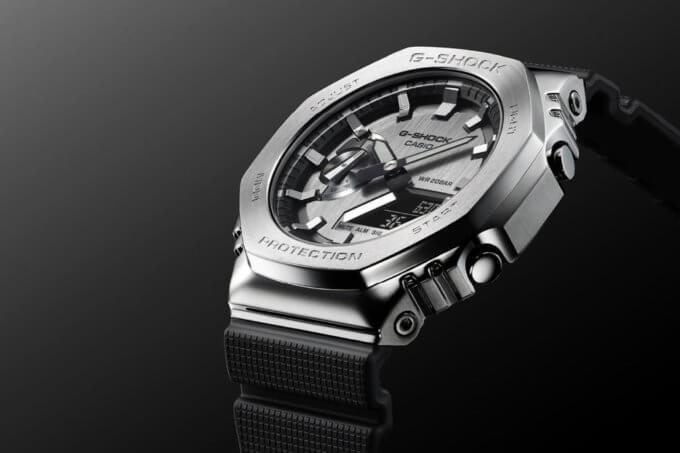 "G-Shock GM-2100 Metal-Covered Stainless Steel ""CasiOak"""