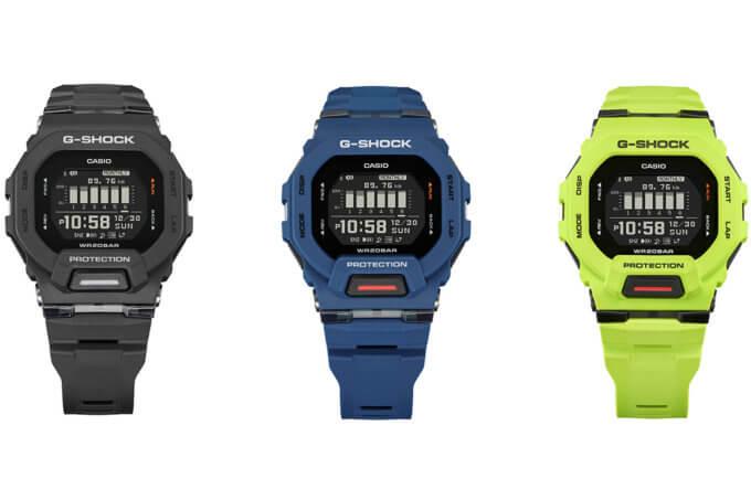 G-Shock G-SQUAD GBD-200: Black GBD-200-1, Blue GBD-200-2, Yellow GBD-200-9